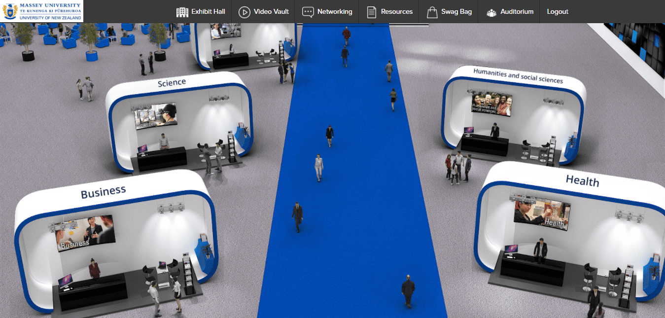 How to setup a Virtual Career Fair: Virtual Booths