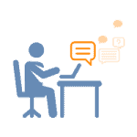 Animation of a customer support representative