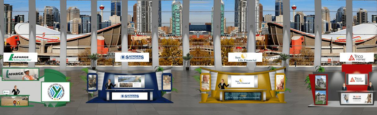Exhibit hall of a Virtual Career Fair