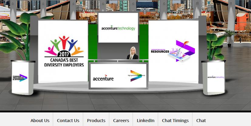 Virtual Booth in an Online Career Fair