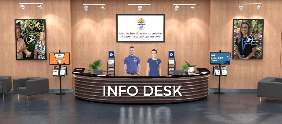 Info Desk at a Virtual Event