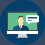 Webinar in a virtual career fair