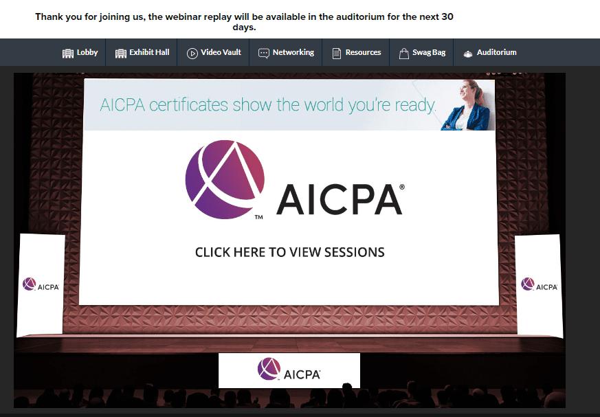 AICPA Webinar