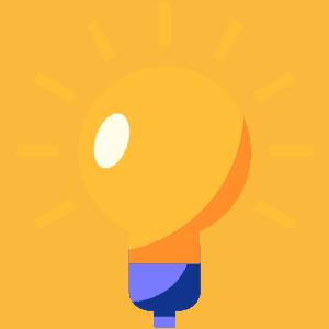 An animated bulb