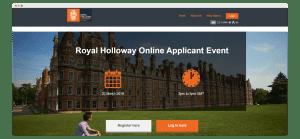 landing page royal holloway