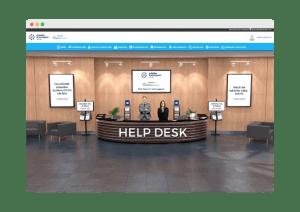 Virtual help desk in an online event