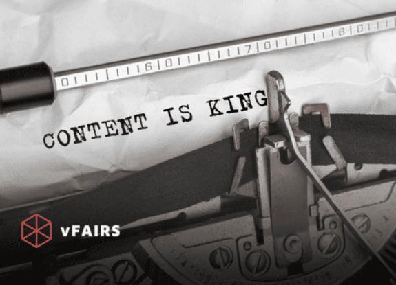 Content is King written on typewriter