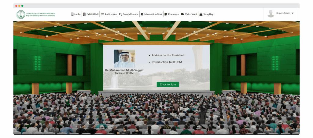 virtual auditorium slide