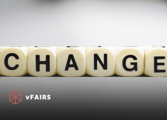 Tiles spelling out the word change