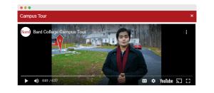 virtual open house campus tour video screenshot