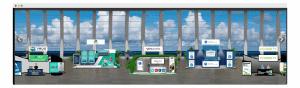 horizontal virtual booth view