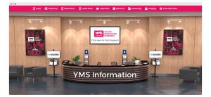 info desk at virtual conference