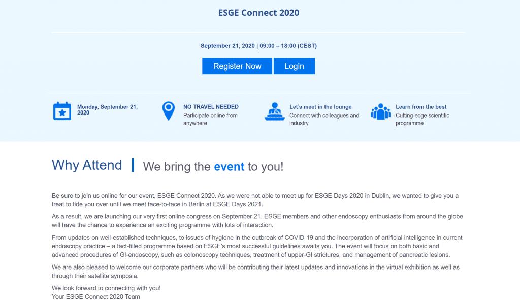 virtual event landing page copy