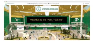 virtual job fair lobby