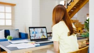 using a video conferencing software tool