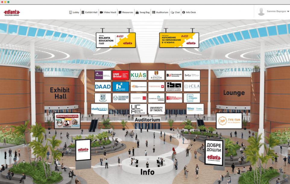 EDLANTA virtual lobby