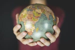 holding the entire world in your hands