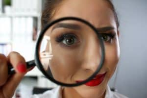 researching recruiters at virtual job fair