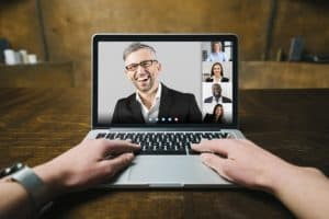 moderating an online conference
