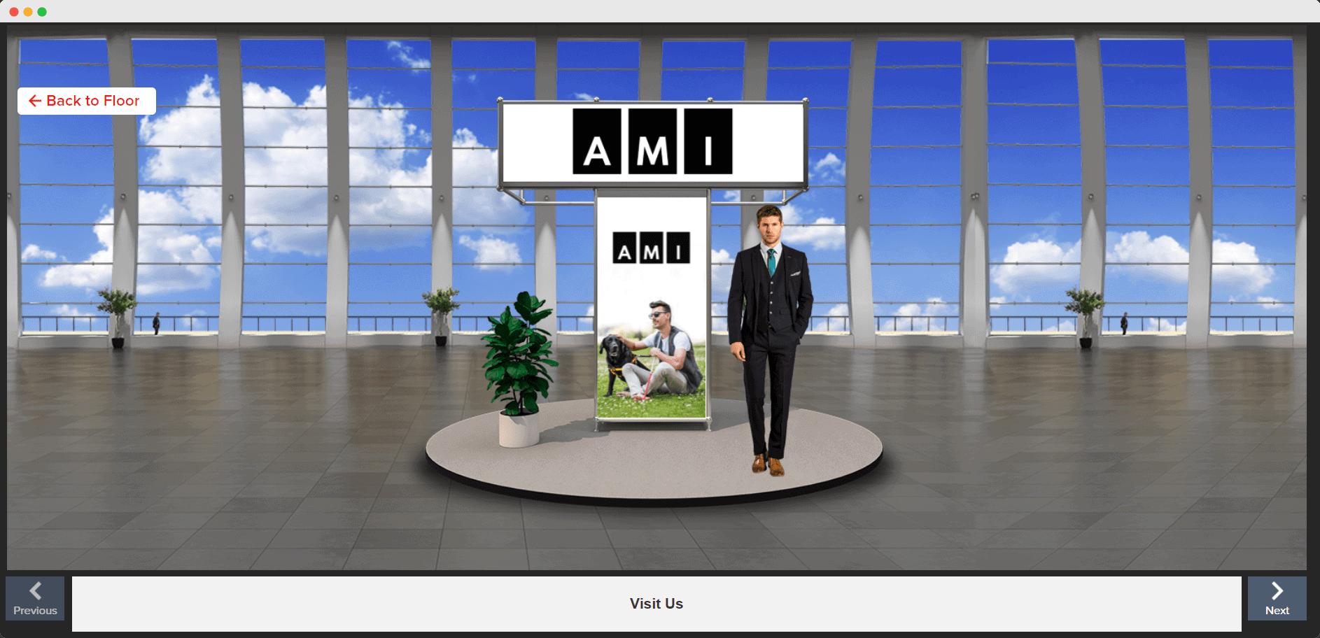 AMI exhibit booth
