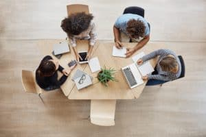 virtual event planning team