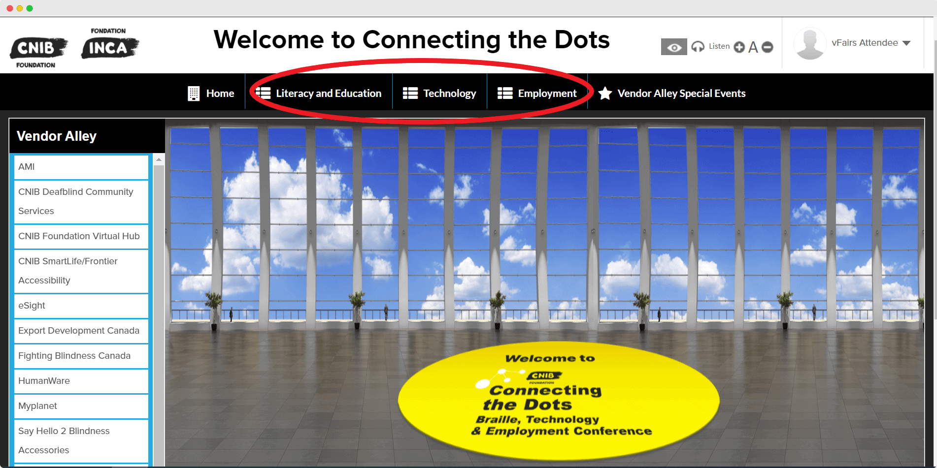 CNIB main event page