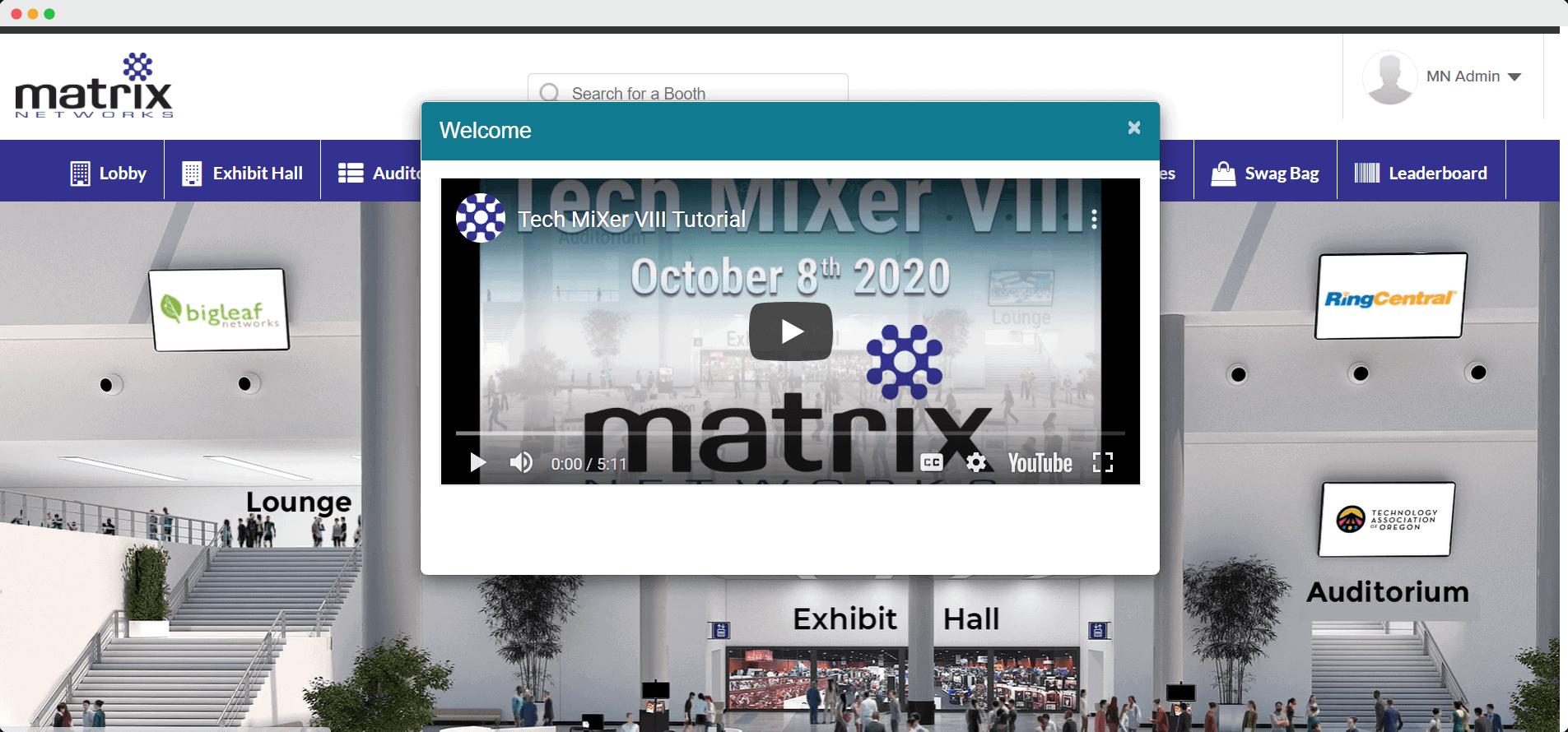 Matrix Network lobby