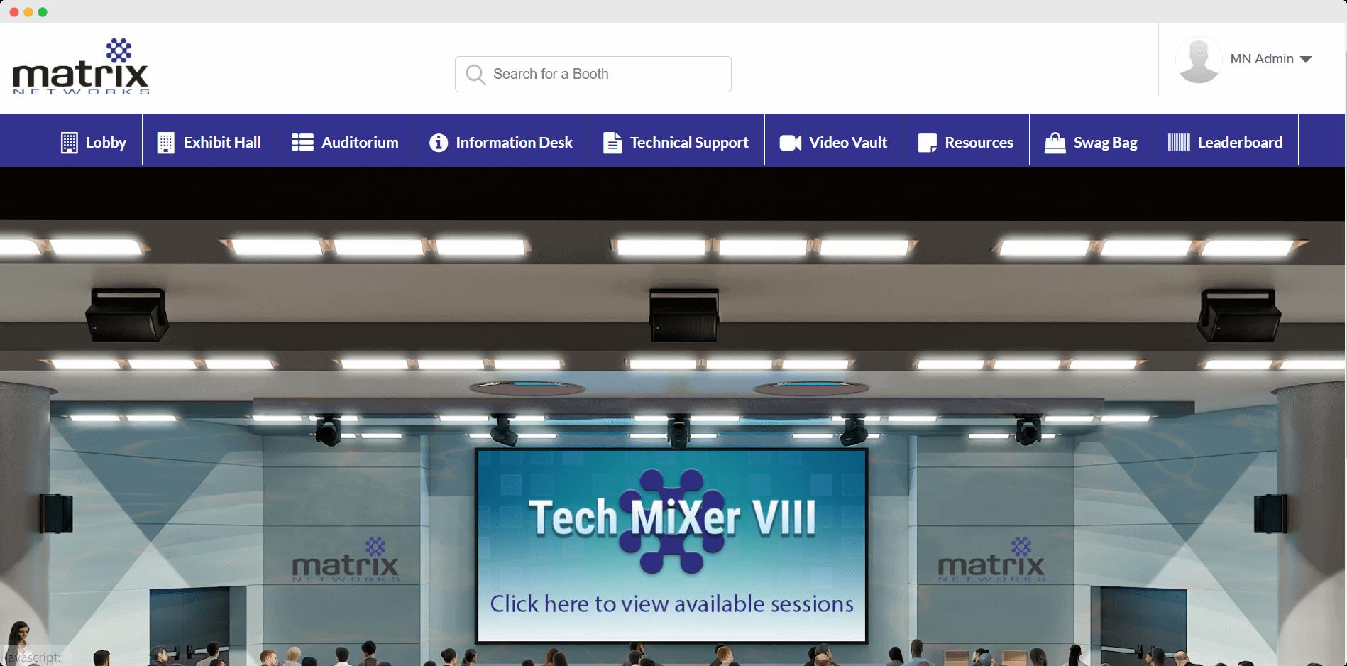 Matrix Network Virtual Auditorium
