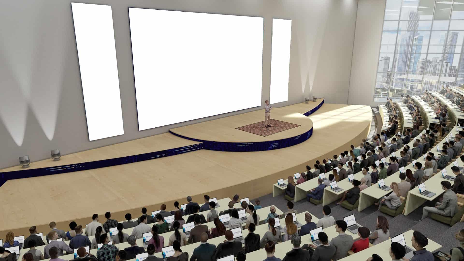 webinars in virtual auditorium