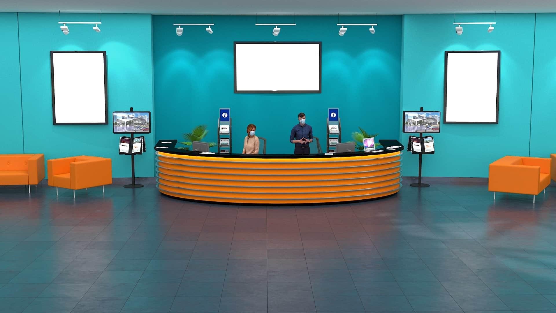 virtual event info desk