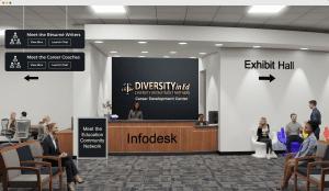 information desk at virtual job fair