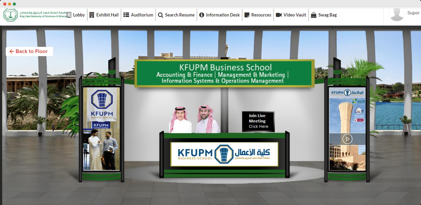 KFUPM virtual booth