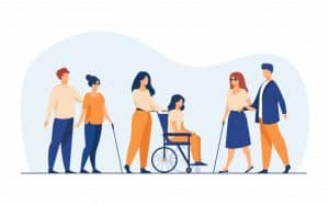 disabled individuals accessing virtual event
