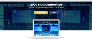 FAIR virtual conference landing page - vfairs