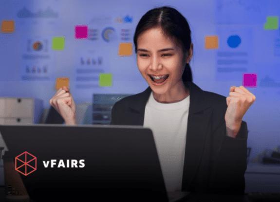 girl attending virtual employee wellness fair