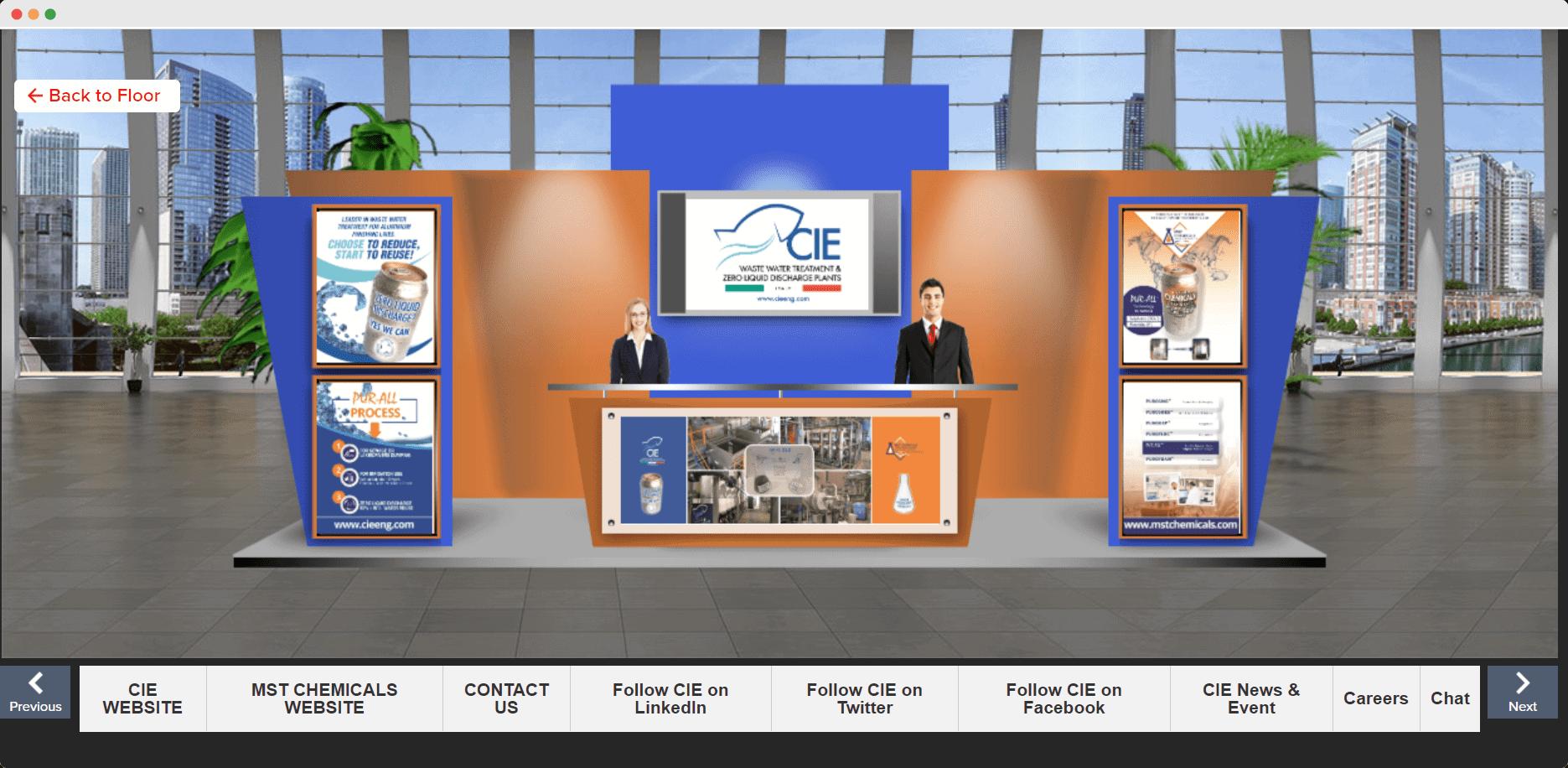 Asia CanTech virtual conference exhibit booth