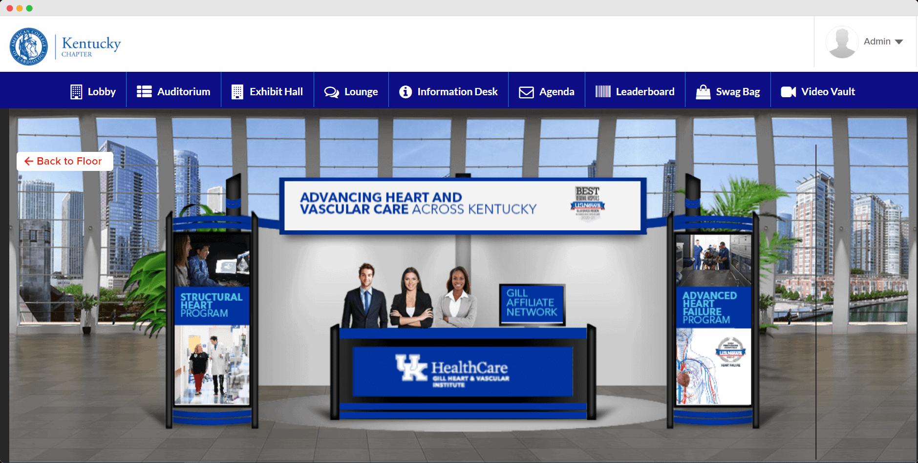 exhibit booth virtual benefits fair
