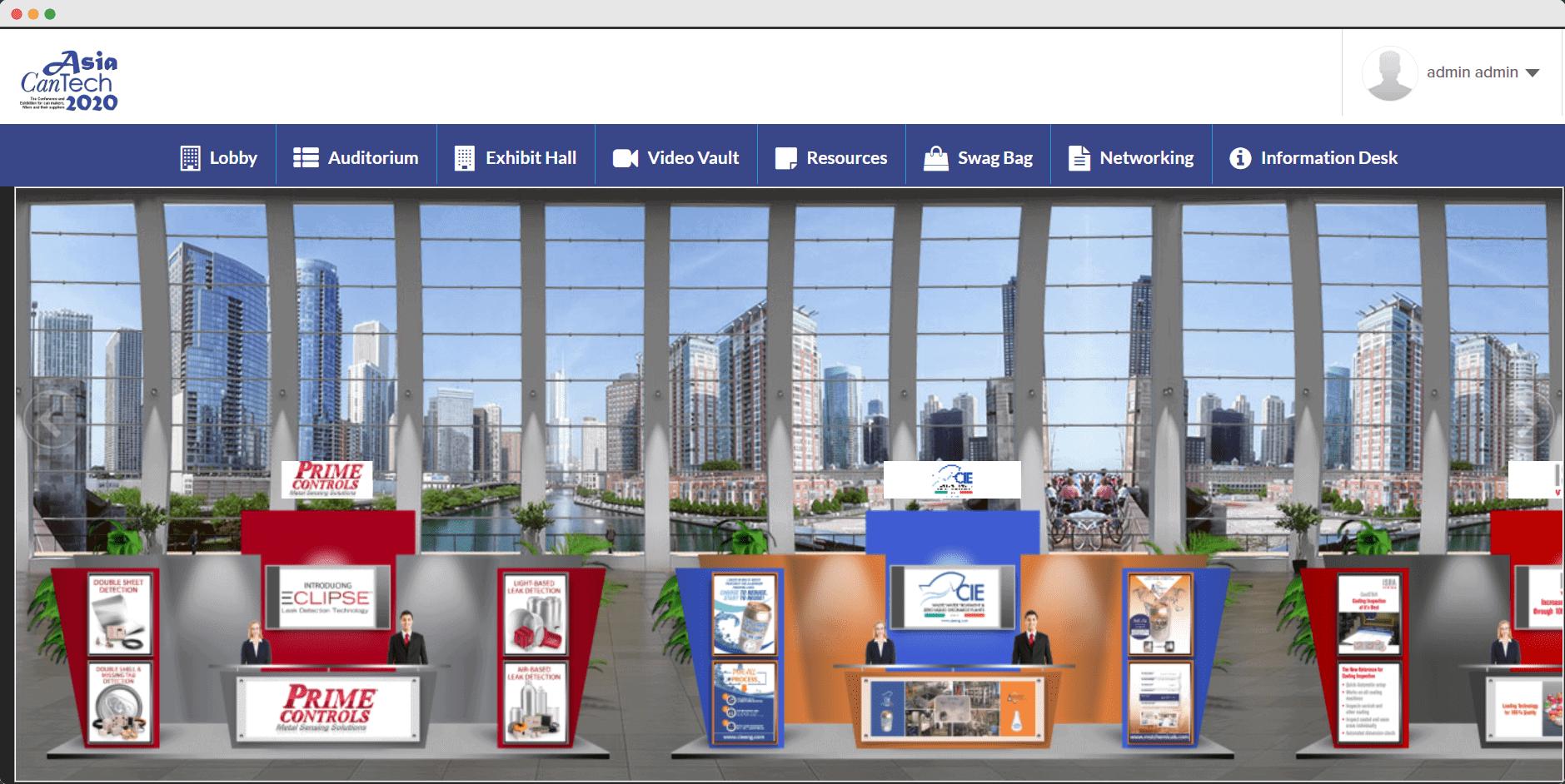 Asia CanTech virtual conference exhibit hall