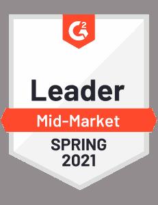 G2 Badge for Spring 2021 Leader in Mid-Market