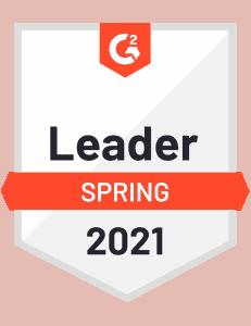 G2 Badge for Spring 2021 Leader