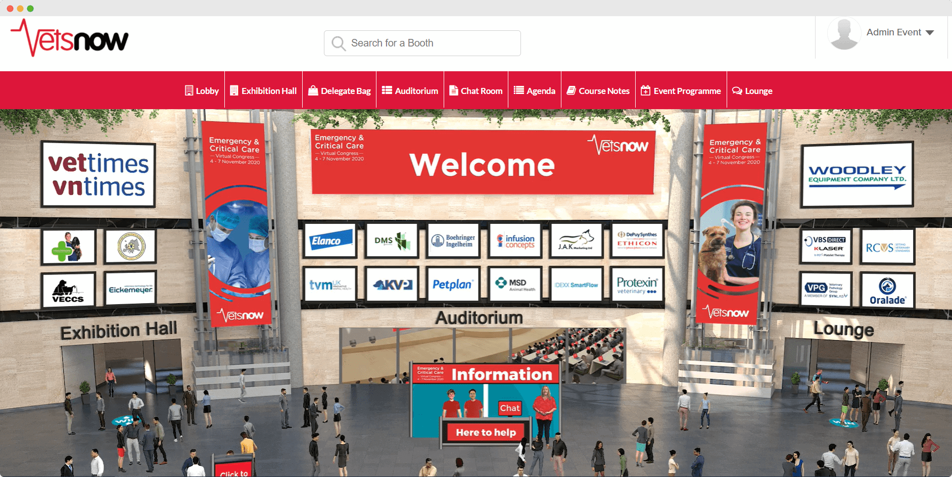 Vets Now Virtual Congress lobby