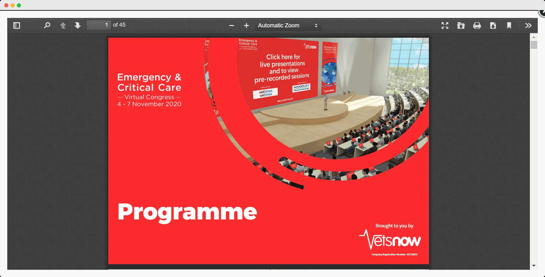 Vets Now Virtual Congress programme