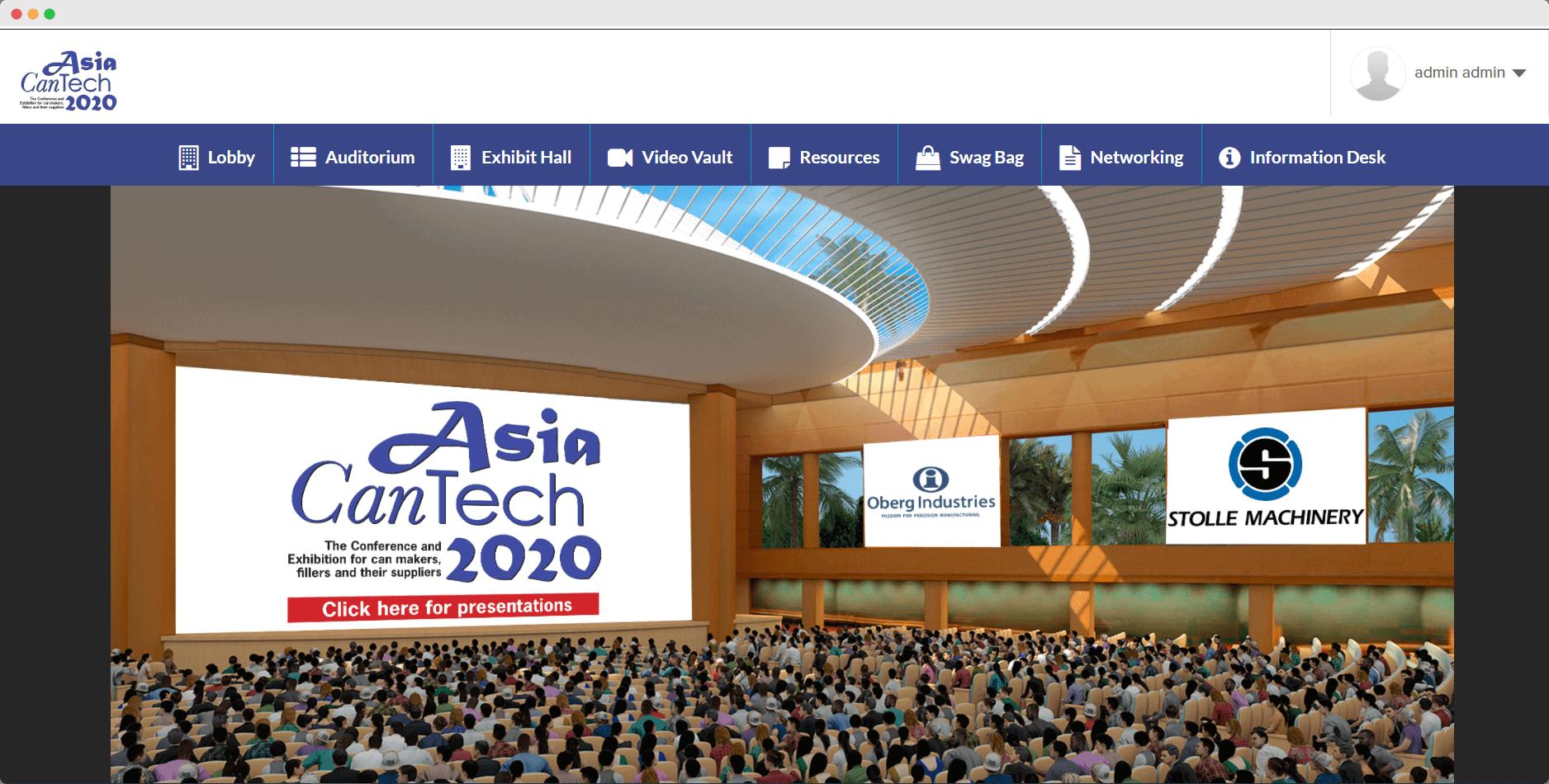 Asia CanTech virtual conference auditorium