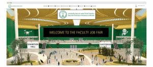 vfairs virtual lobby at a job fair