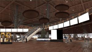 An entrance lobby for an entertaining virtual fundraiser