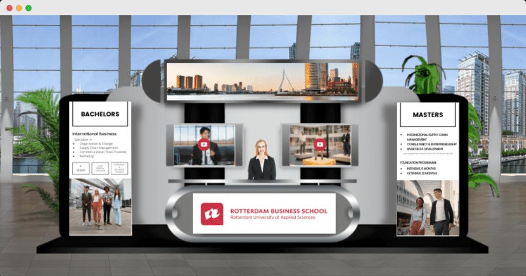 an image of a booth at the edlanta virtual education fair