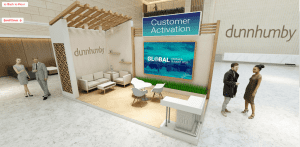 virtual exhibit booth from a vFairs trade show