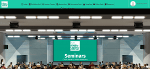 sample of a vfairs virtual auditorium to include in hybrid events