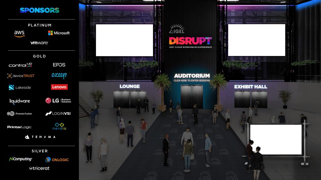 an image of a virtual event platform