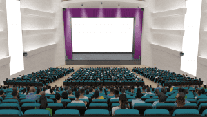 virtual auditorium for education technology conference - vfairs